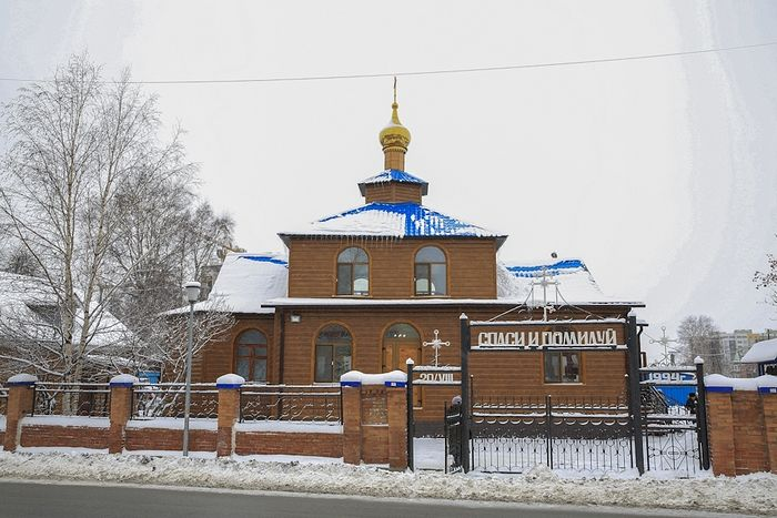 Первый построенный после большевистского правления храм в честь иконы Божьей Матери «Знамение» в Ханты-Мансийске