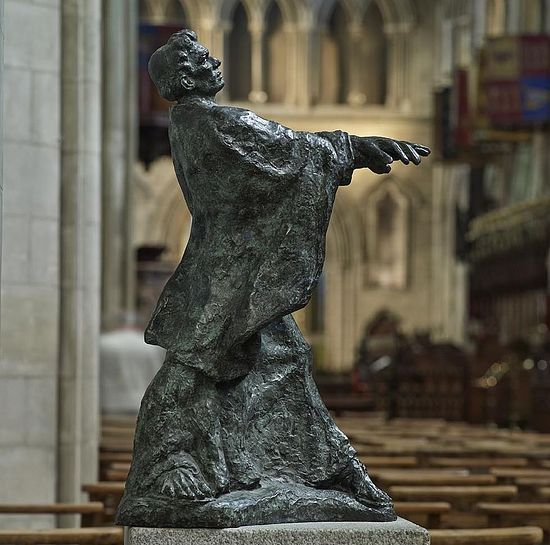 St. Patrick's modern depiction by Melanie LeBrocquy in the nave of St. Patrick's Cathedral in Dublin (kindly provided by Dublin Cathedral's Education Officer)