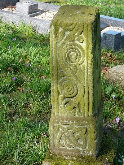 9th century Saxon Cross, St. Patrick's site in Heysham, Lancs (kindly provided by St. Peter's parish in Heysham)