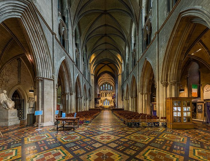 Nave of St. Patrick's Cathedral in Dublin