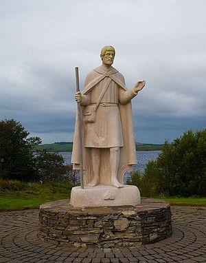 St. Patrick's statue near Station Island, Ireland