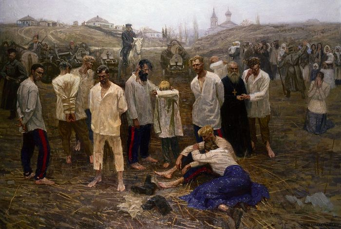 Расказачивание. Художник: Д. Шмарин. 1995-2000 гг.