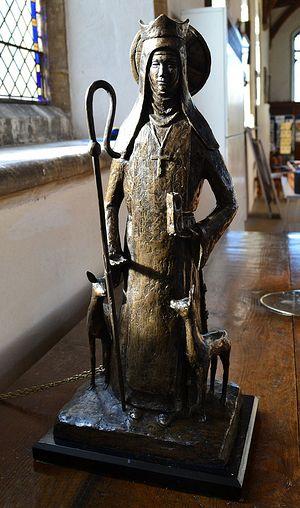 Современная скульптура прп. Витбурги в храме свт. Николая в Дерхэме, Норфолк (фото любезно предоставлено старостой прихода в Дерхэме)