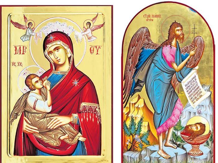 Богородица Млекопитателница / Свети Јован (Фото архива манастира Жича)