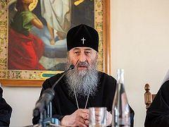 Предстоятель Украинской Православной Церкви: О «подать друг другу руки» говорят нам те, кто не знают Бога