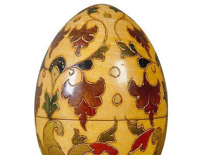 Выставка деревянных точеных пасхальных яиц открывается в музее декоративного искусства
