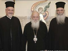 Constantinople delegation discusses Ukrainian issue with primate of Greek Church