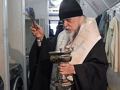 Church's Mercy service opens laundromat for Moscow homeless