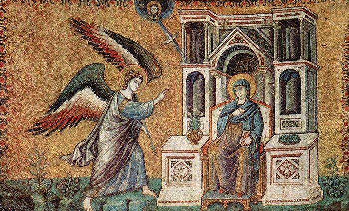 Annunciation by Pietro Cavallini, ca. 1291