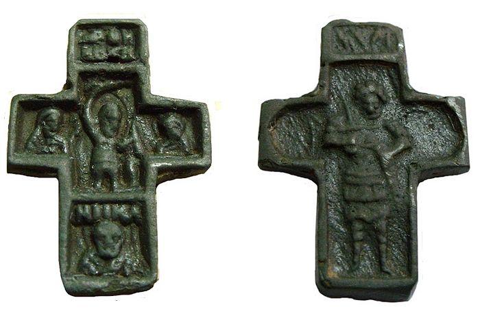 Крест с Никитой-Бесогоном. Тверь. XIV век