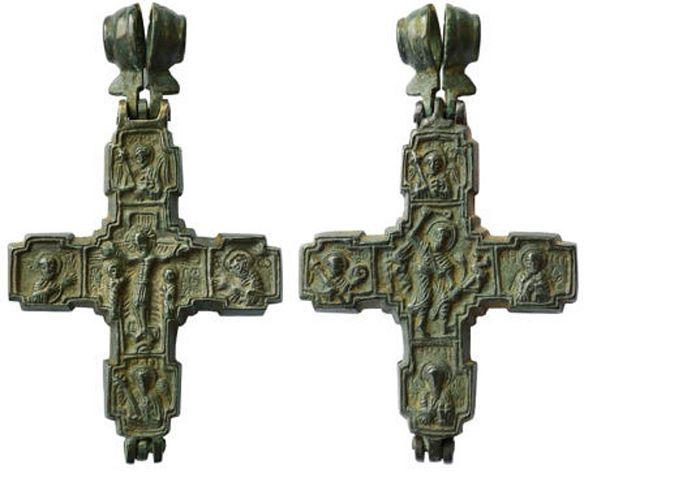 Крест-энколпион с изображением Никиты-Бесогона. Конец XIV – начало XV века