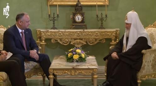 Святейший Патриарх Кирилл встретился с Президентом Республики Молдова Игорем Додоном