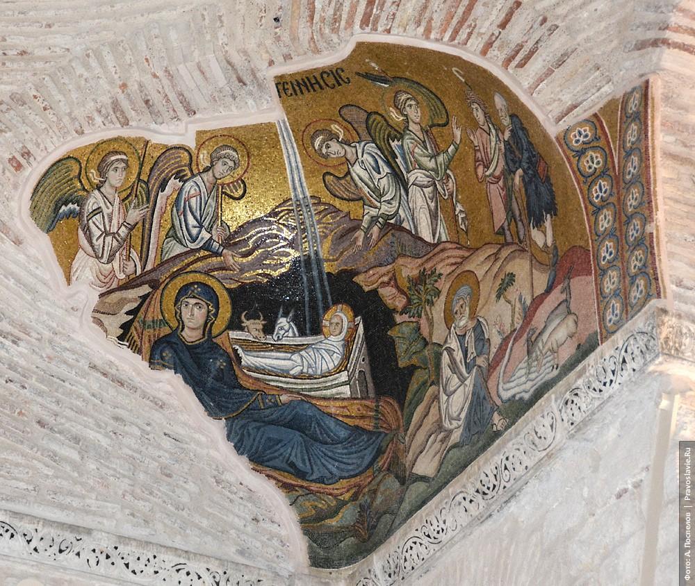 Рождество Христово. Мозаика в тромпе