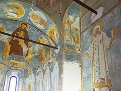Nearly 40 years of conservation work on 16th-century frescoes by Dionysius the Wise at UNESCO monastery completed