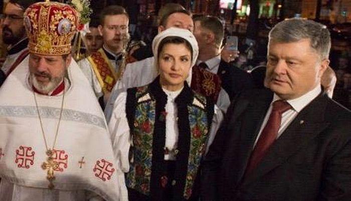 """Archpriest"" Peter Zichin with Poroshenko and his wife. Photo: spzh.news"