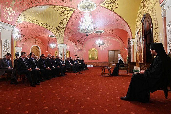 Патриарх Кирилл провел традиционную встречу со слушателями Высших дипломатических курсов