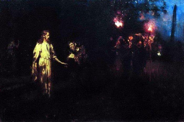 Илья Ефимович Репин – Христос в Гефсиманском саду. Конец 1880-х
