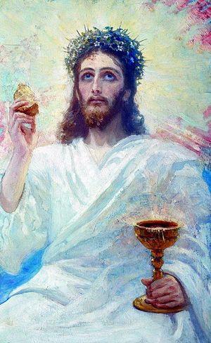 Илья Ефимович Репин – Христос с чашей. 1894
