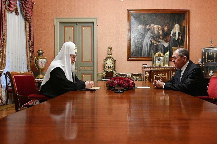 Состоялась встреча Святейшего Патриарха Кирилла с министром иностранных дел РФ Сергеем Лавровым