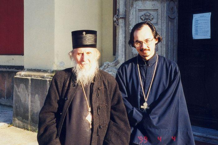 С епископом Даниилом в Сентэндре. 1999