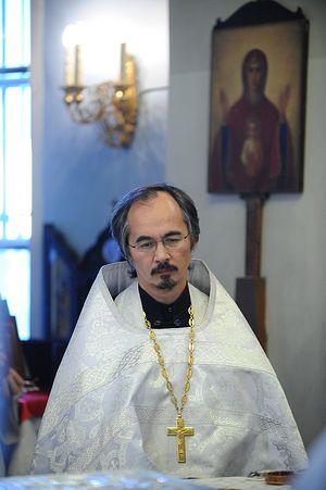 Протоиерей Николай Ким в храме на Большой Ордынке. 2010
