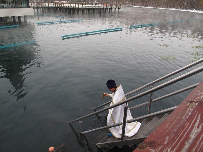 Водосвятный молебен на озере Хевиз в день Крещения Господня. 2013