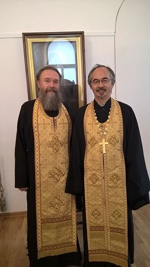 С настоятелем Колпинского храма Вознесения Господня протоиереем Серафимом Сологубом. 2015