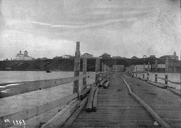 Вид города Березова. 1914 год. И.Н. Шухов Западносибирское краеведение