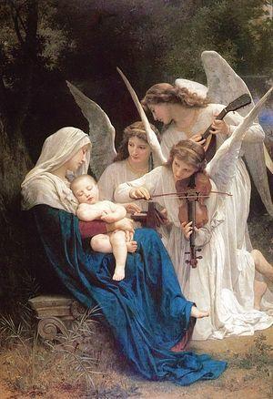 Образец западной религиозной живописи: «Ангельское пение». Вильям Бугро. 1881. Музей Гетти.