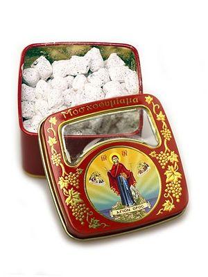 Коробка для ладана с изображениями образов Богородицы, ангелов и знака Креста