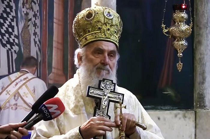 Беседа Патриарха Сербского Иринея после Божественной литургии в Печской патриархии
