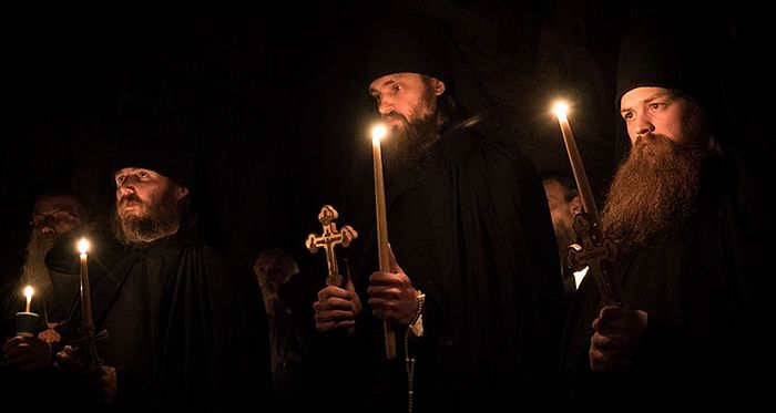 The new monastic fathers at Holy Trinity Monastery. Photo: orthodoxlife.org