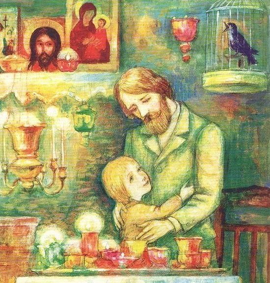 Иллюстрация из книги Ивана Шмелева «Лето Господне»