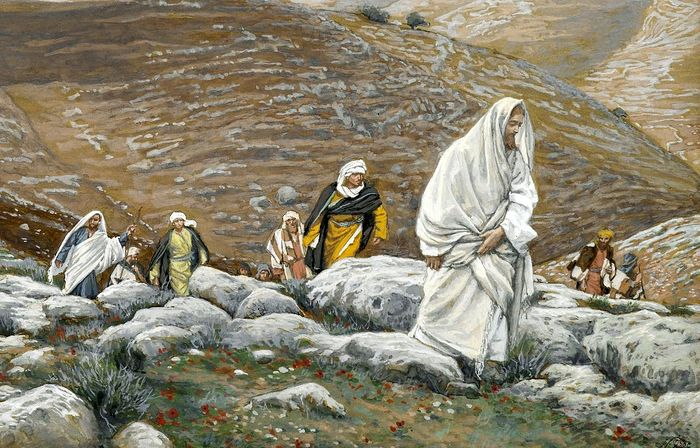 James Tissot (French, 1836-1902). With Passover Approaching, Jesus Goes Up to Jerusalem, 1886-1894.