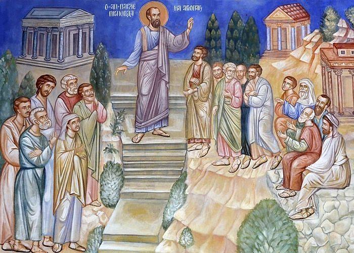 Проповедь апостола Павла в Ареопаге