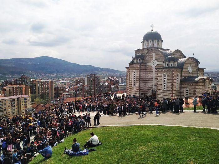 Встреча Сербского Патриарха в Косовской Митровице