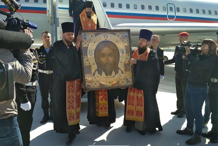 Икона Главного храма Вооруженных Сил России «Спас Нерукотворный» доставлена в Севастополь