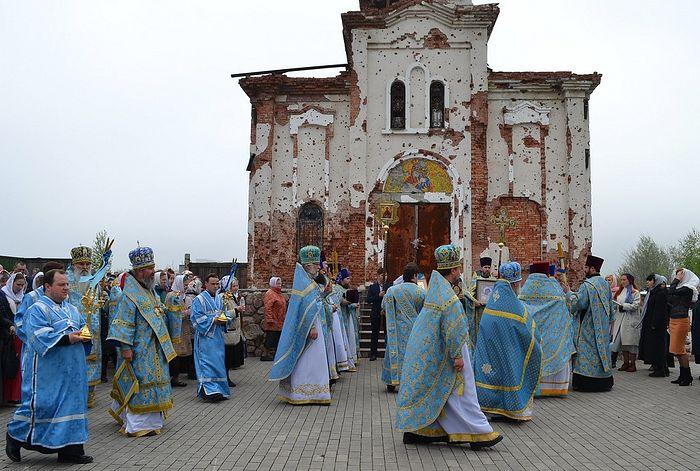 Престольный день отпраздновал донецкий Иверский монастырь