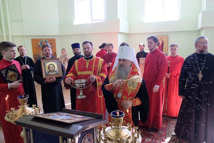 В следственном изоляторе «Кресты-2» в Санкт-Петербурге освящен храм Поклонения честным веригам апостола Петра