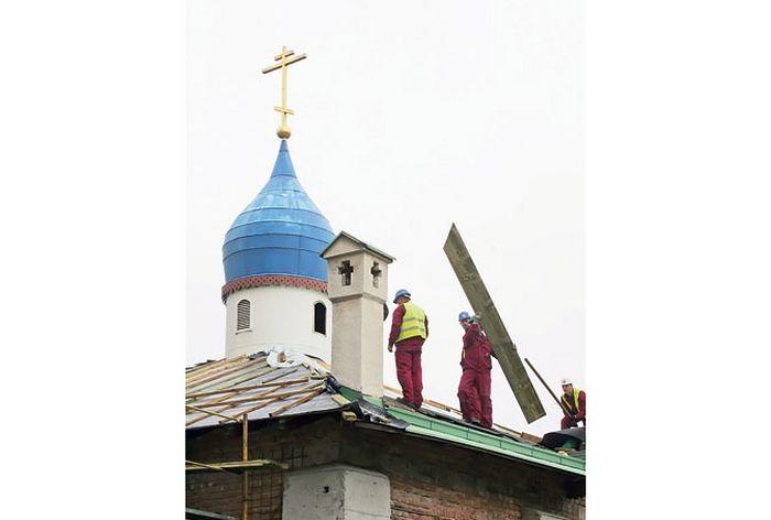 Обнова Храма Свете Тројице биће завршена до краја године (Фотографије Анђелко Васиљевић)