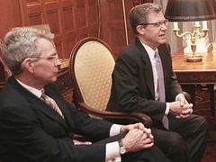 U.S. Ambassadors Brownback and Pyatt discuss Ukraine with Archbishop of Greece, will meet with Athonite abbots