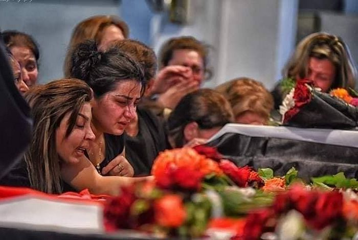 From the victims' funeral. Photo: Facebook