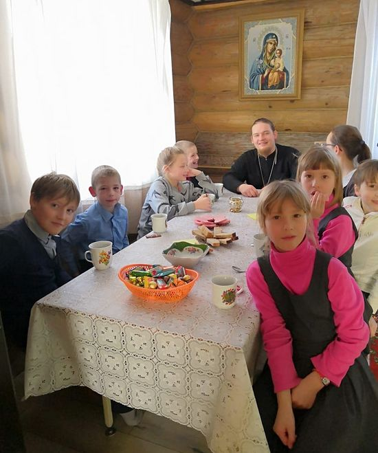 Fr. Dmitry with his children