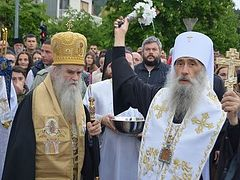 Serbian and Ukrainian hierarchs celebrate memory of St. Basil of Ostrog together
