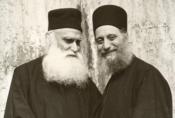 Схиархимандрит Эмилиан (Вафидис) с о. Ефремом Катунакским