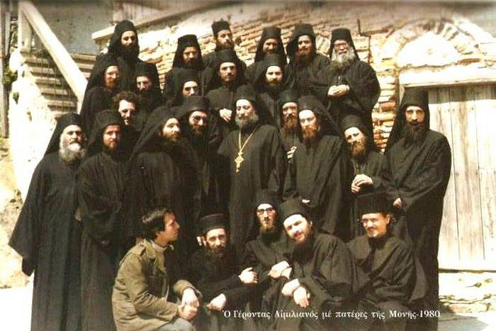 Схиархимандрит Эмилиан (Вафидис) с братством