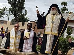 Patriarch of Alexandria celebrates mass Baptism of 350 people in Tanzania