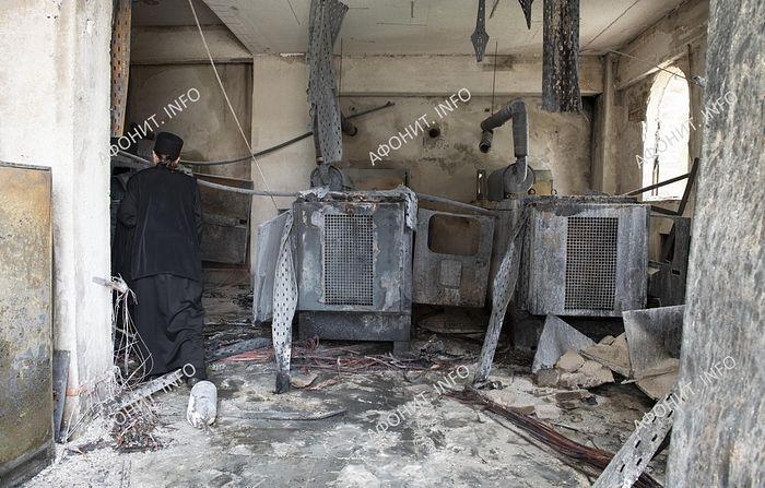Из-за пожара Пантелеимонов монастырь на Афоне вынужден временно прекратить прием паломников