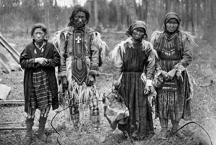 Тунгусы, эвенки. фото 1888 г