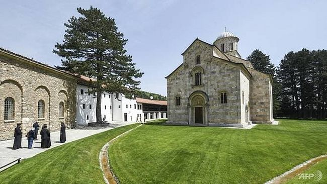 The 14th century Serbian Orthodox Decani Monastery in Kosovo is one of the church's most revered sites. (AFP/Armend NIMANI)